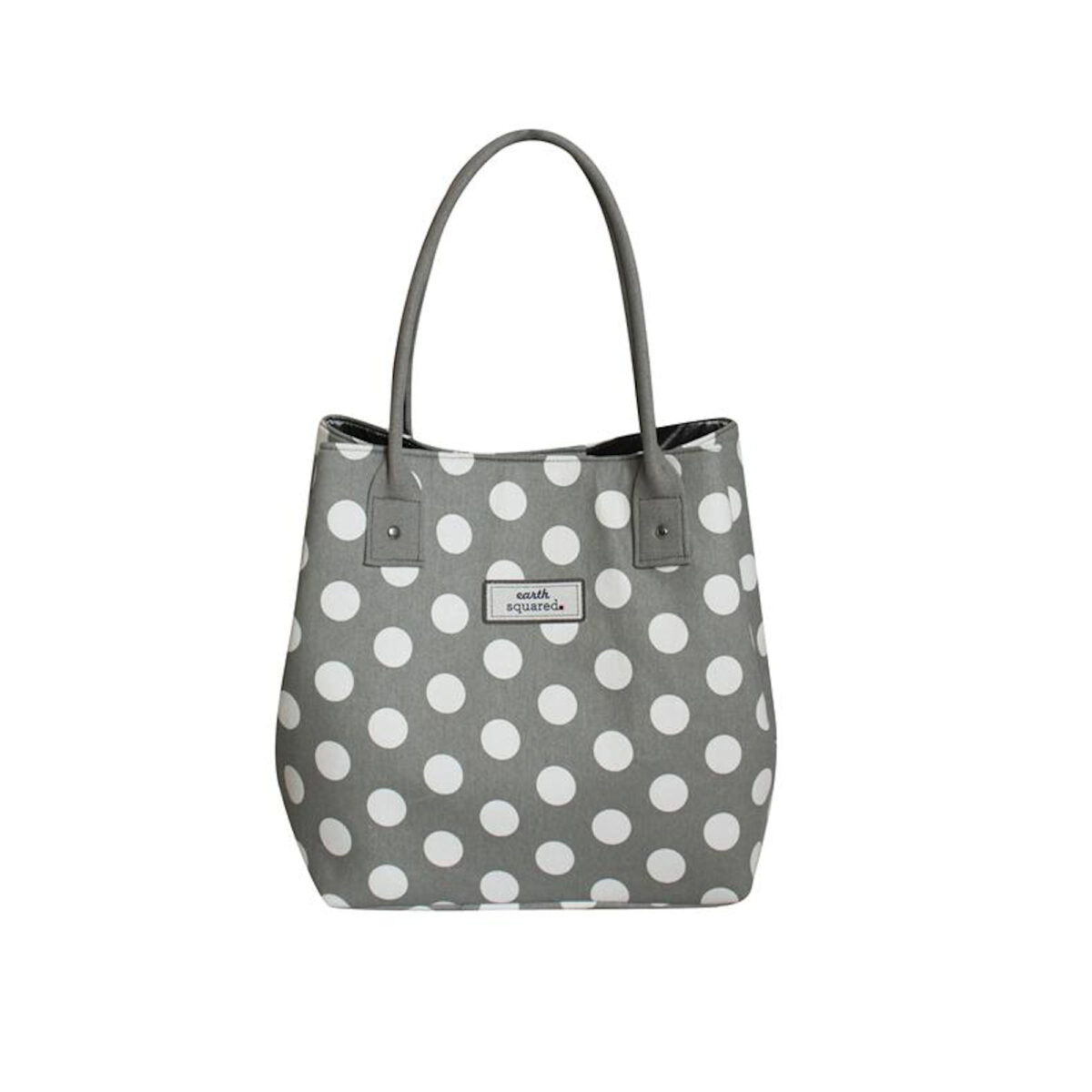 Grey Spotty Slouch Tote Bag