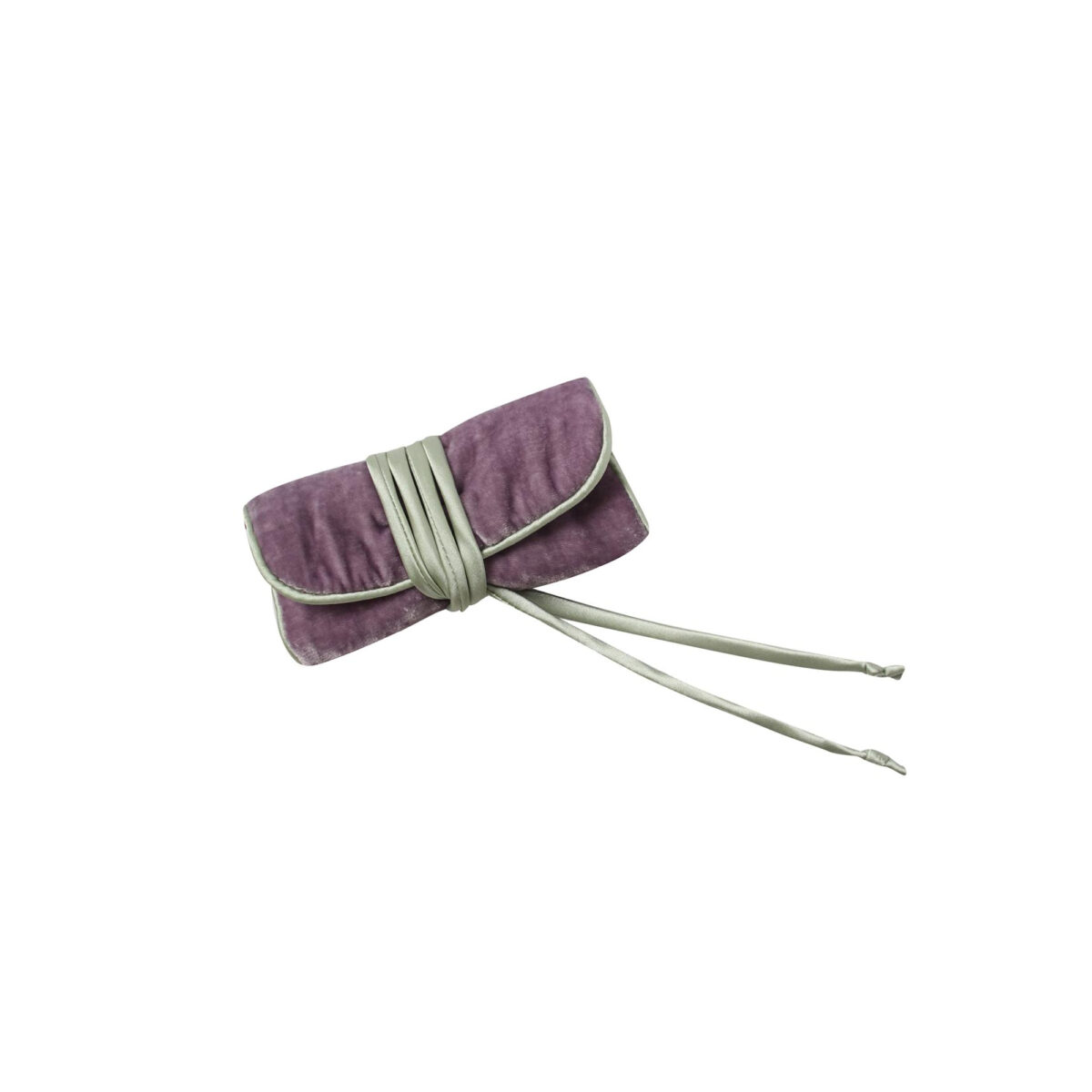 Lilac Velvet Jewellery Roll