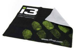 A photo of an i3 microfiber cloth