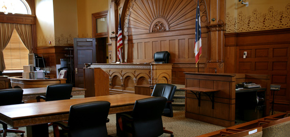 A photo of a courtroom
