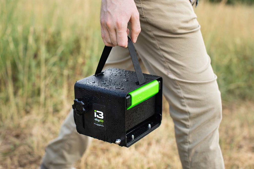 A photo of someone carrying a digID rugged+
