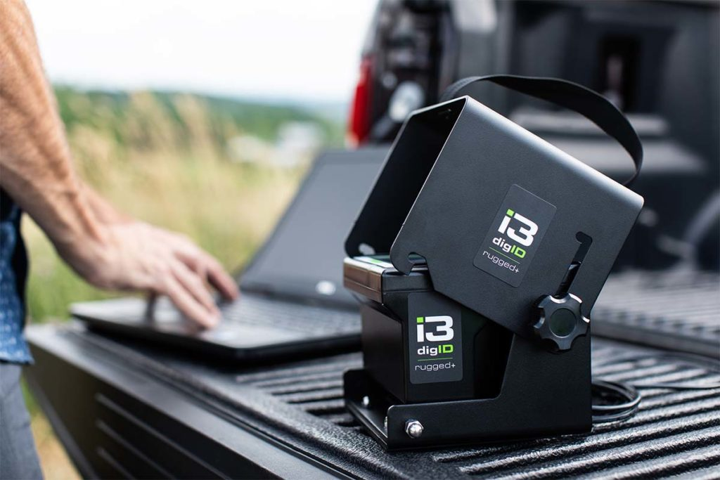 A photo of digID rugged+ on the bed of a truck