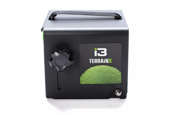 A sideview photo of a closed TerrainX device