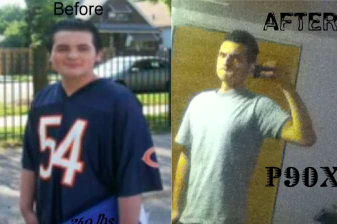 Jorge – Teenager loses 80 pounds with P90X