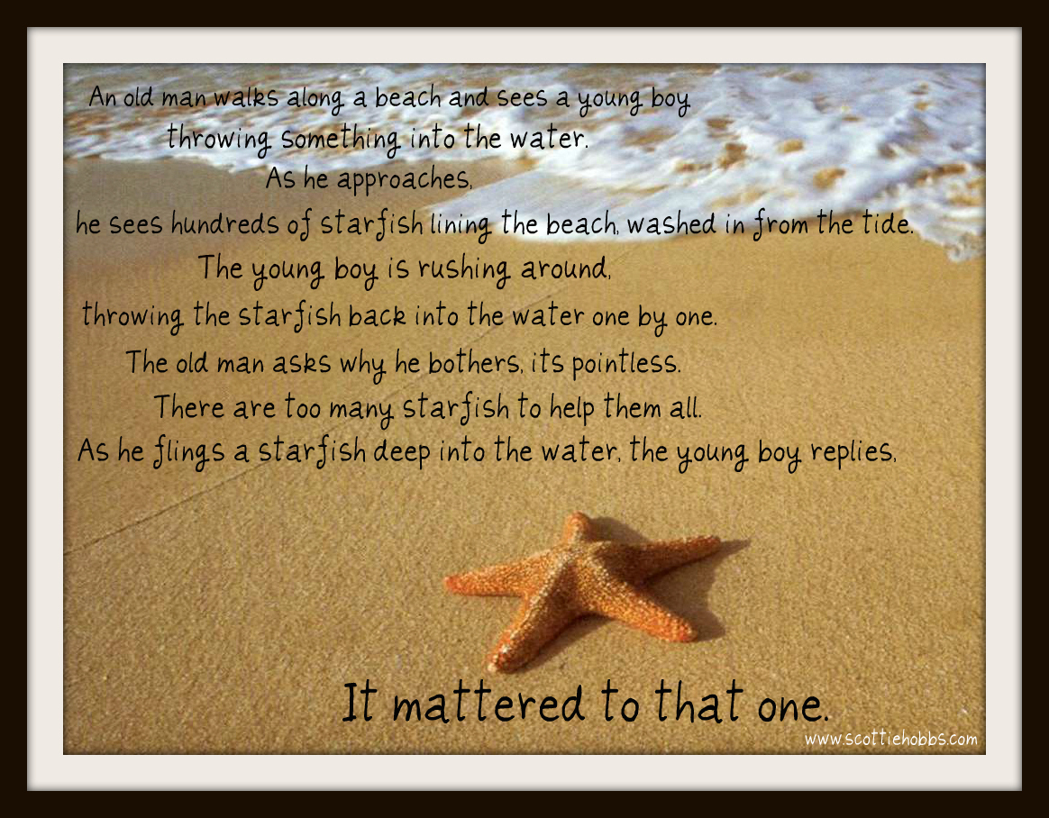 Starfish on the Beach Story – Change Lives