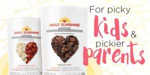healthy kids shake, kids health shake, daily sunshine