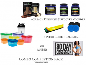 80 day obsession packs, combo completion pack
