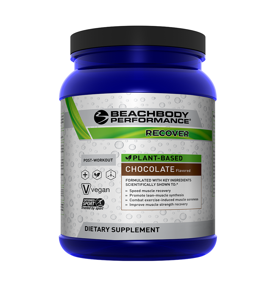 Plant based protein shake, plant based recover, vegan recover shake beachbody