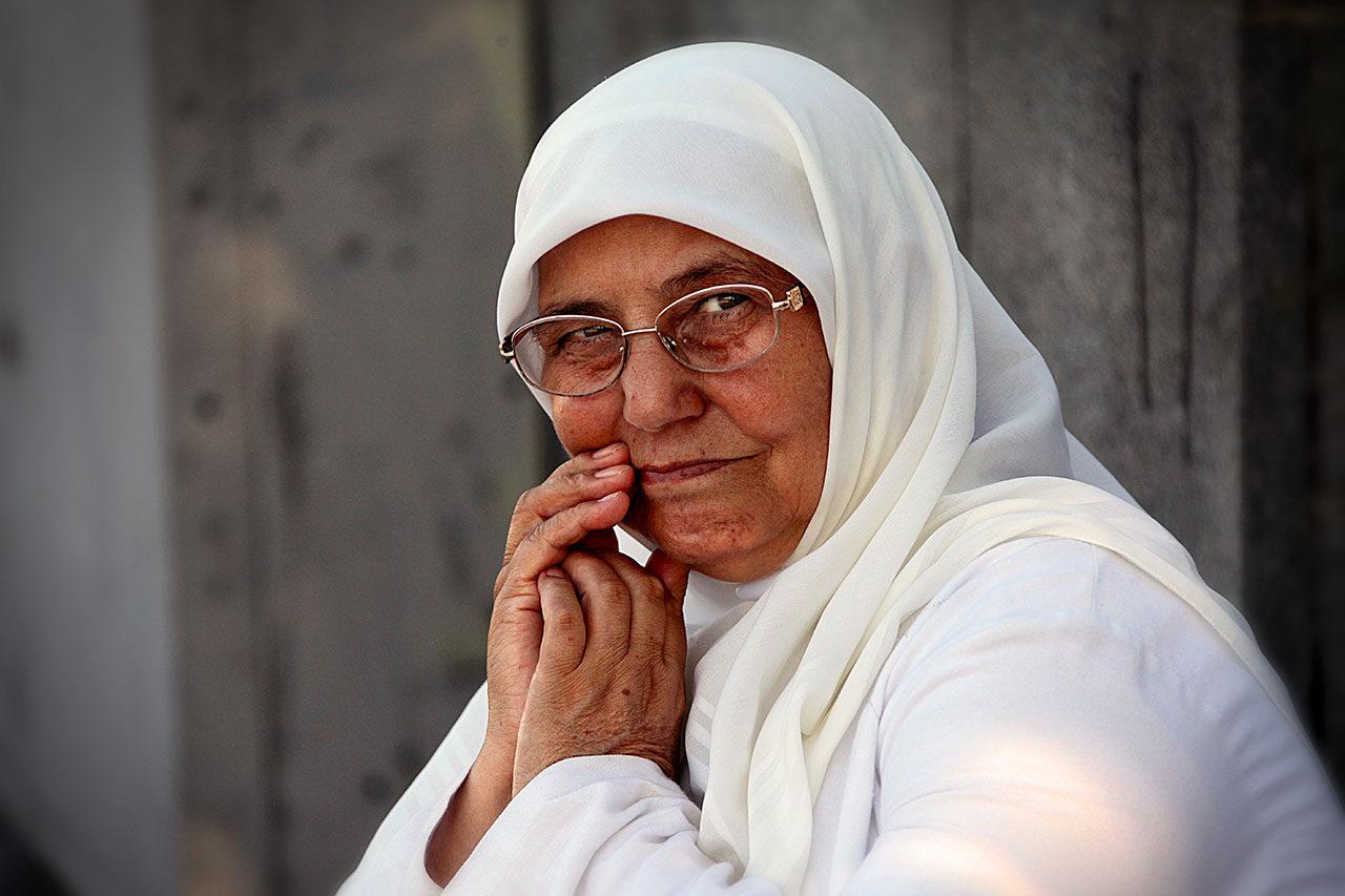 Woman in White, Istanbul, Turkey.
