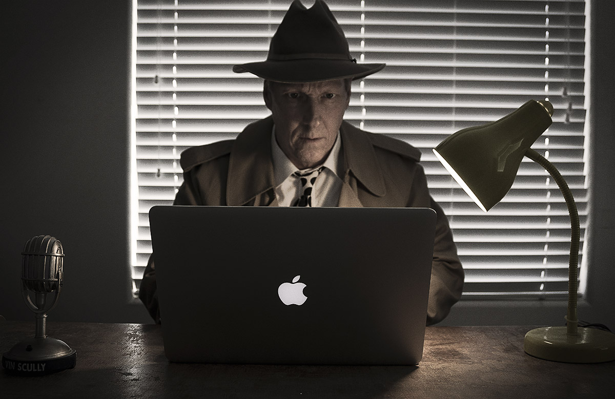 James Dalrymple writing his latest thriller novel.