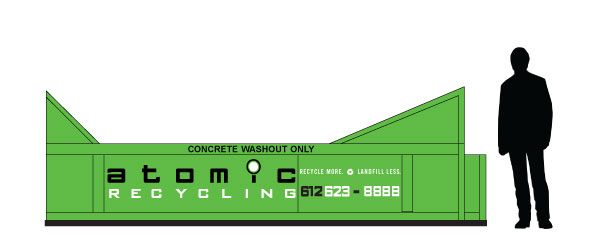atomic construction waste recycling Dumpsters concrete washout