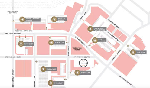 The Gulch Parking Map