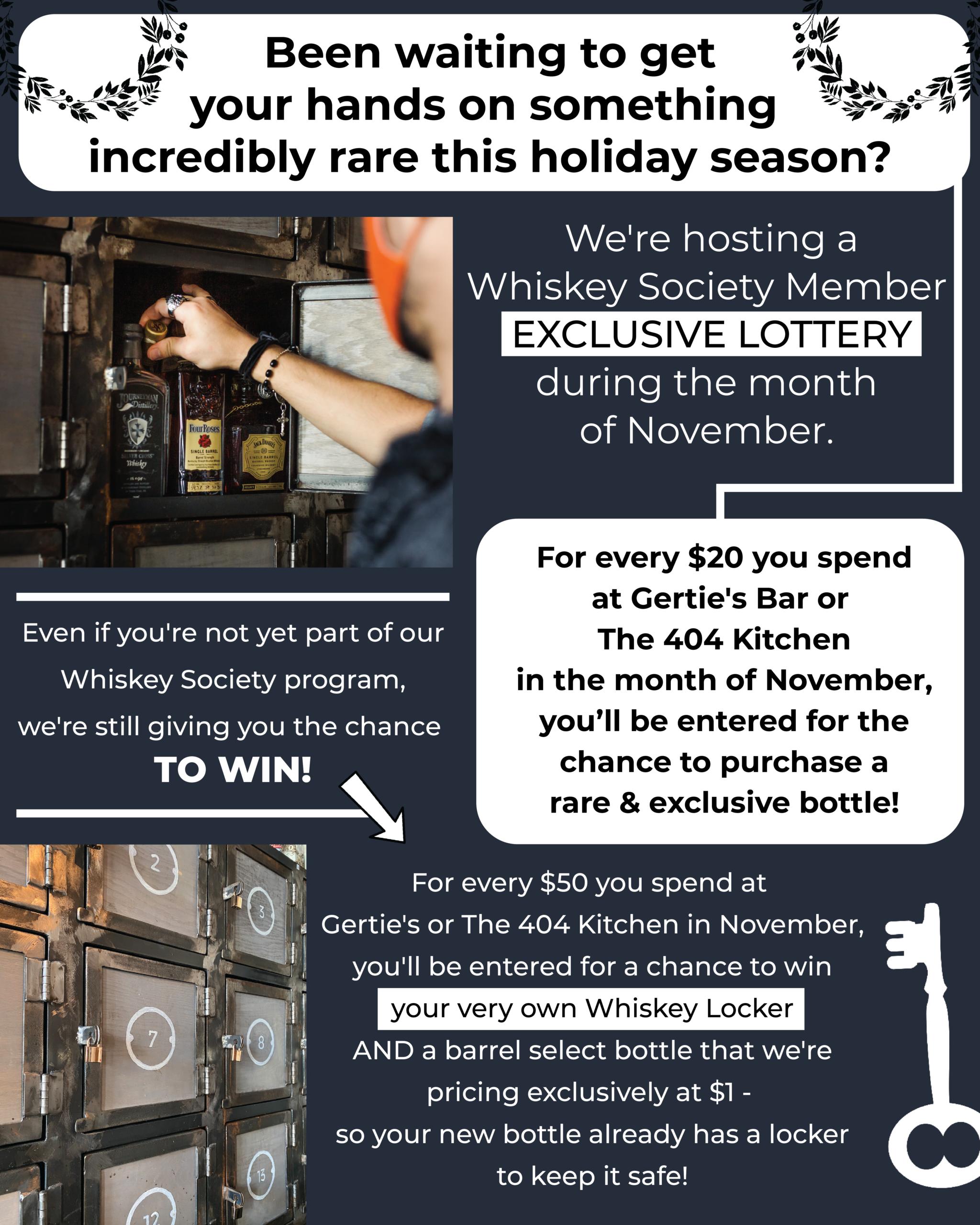 Whiskey Society Lottery