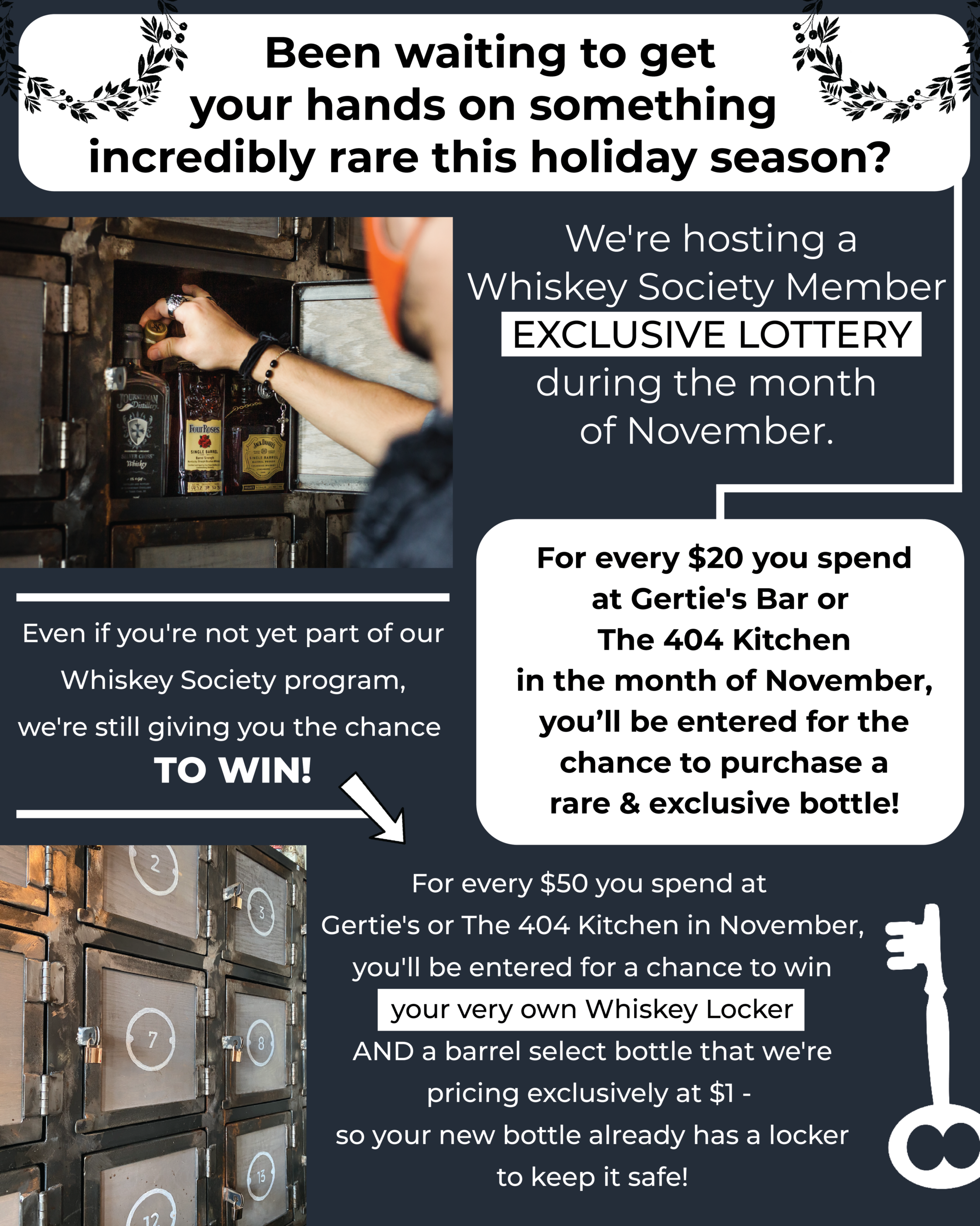 Whiskey Society Lottery