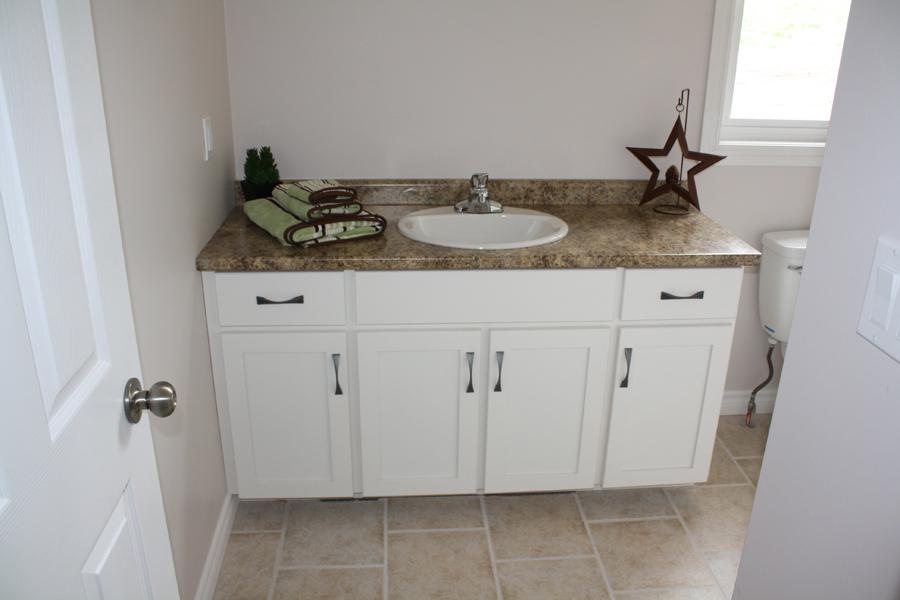 Painted glazed bathroom vanity
