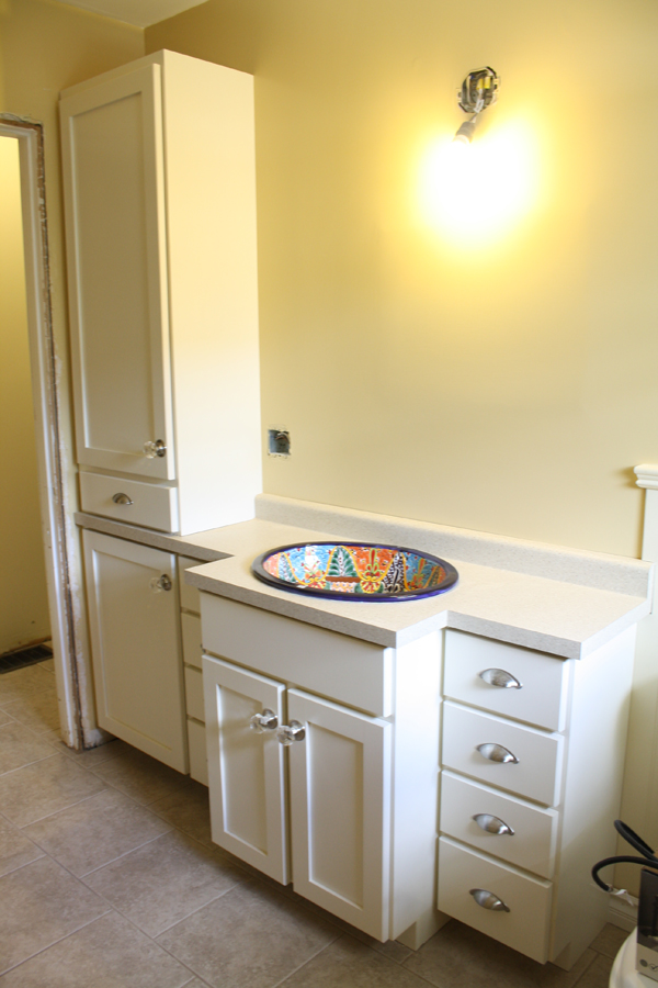 painted glazed vanity