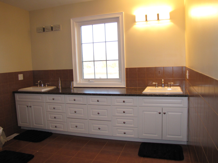 Large bathroom double sink