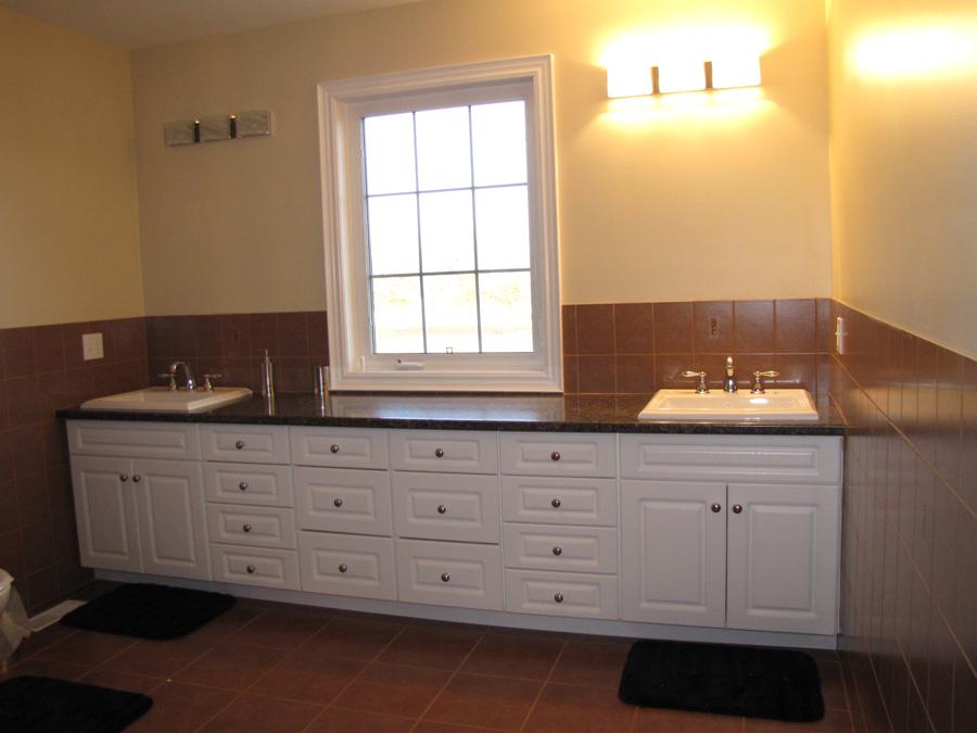 Large bathroom double sink