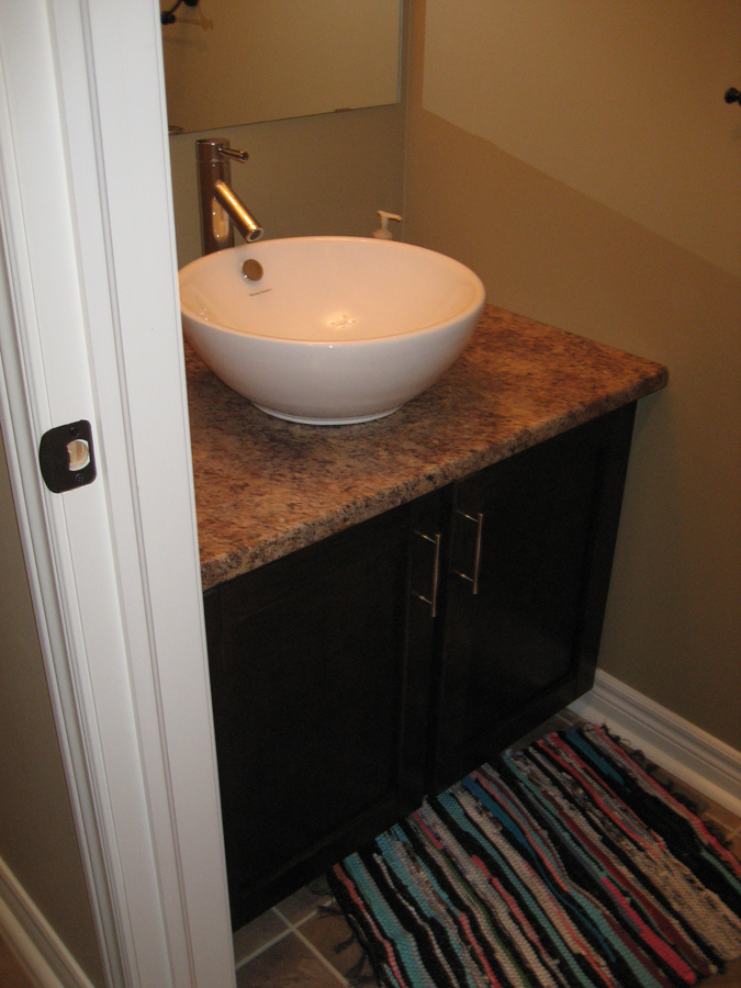 Small bathroom vanity with sink