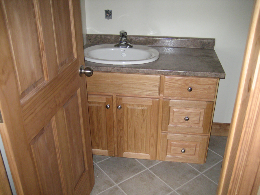 Oak bathroom vanity
