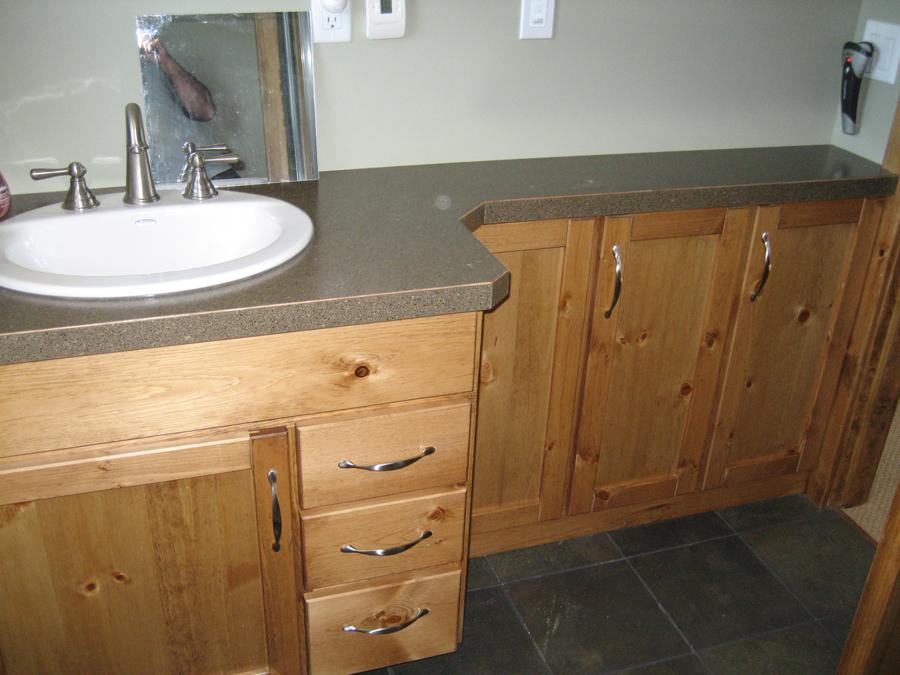 Pine bathroom vanity
