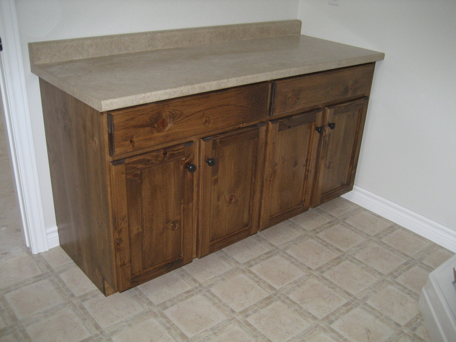 Pine Bathroom Vanity P7