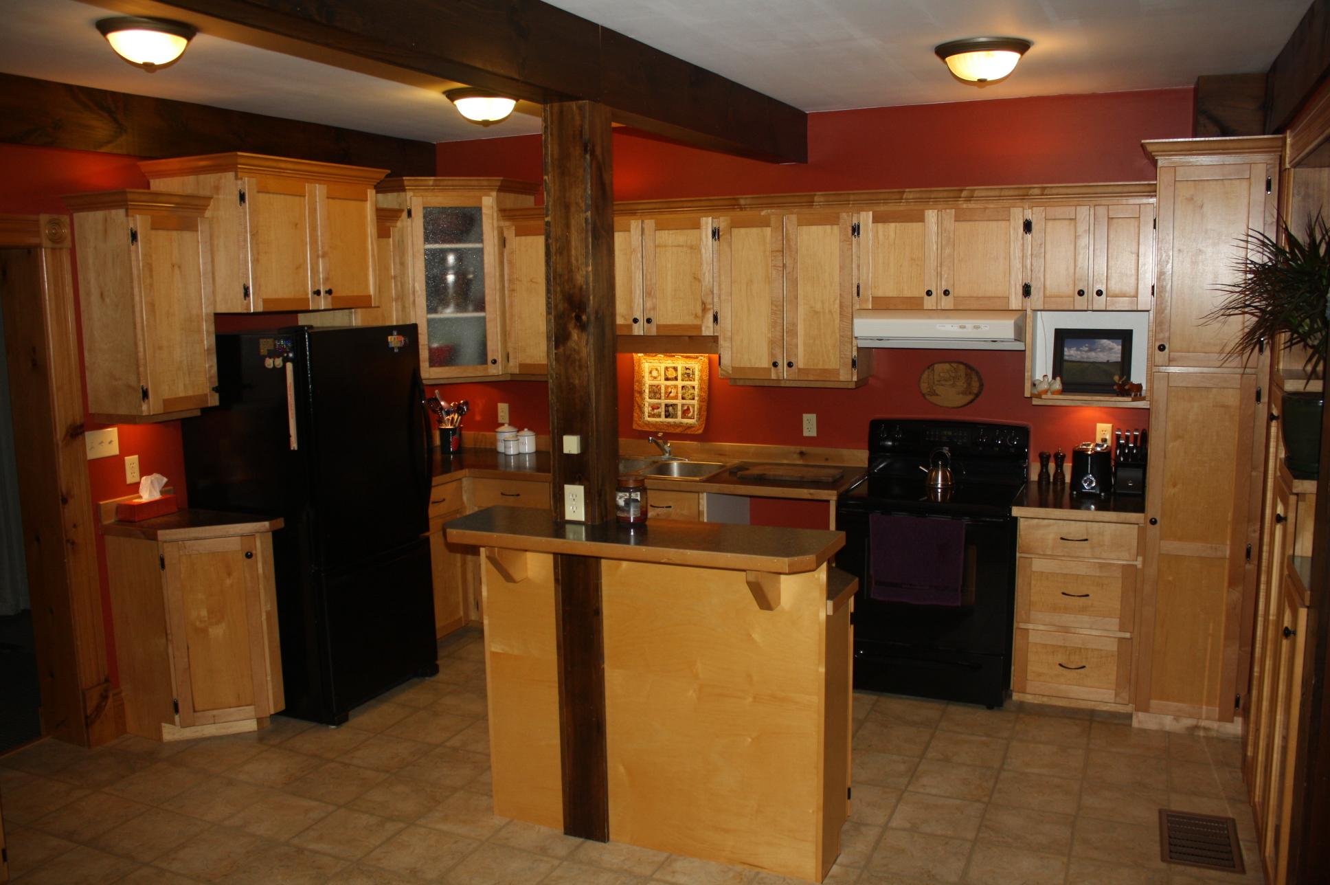 Maple kitchen cupboards