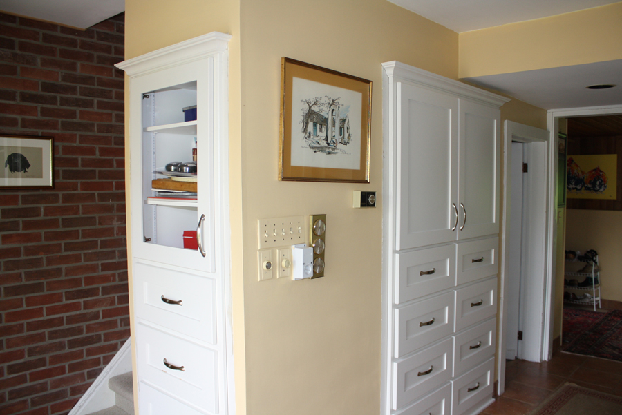 built in kitchen cabinets