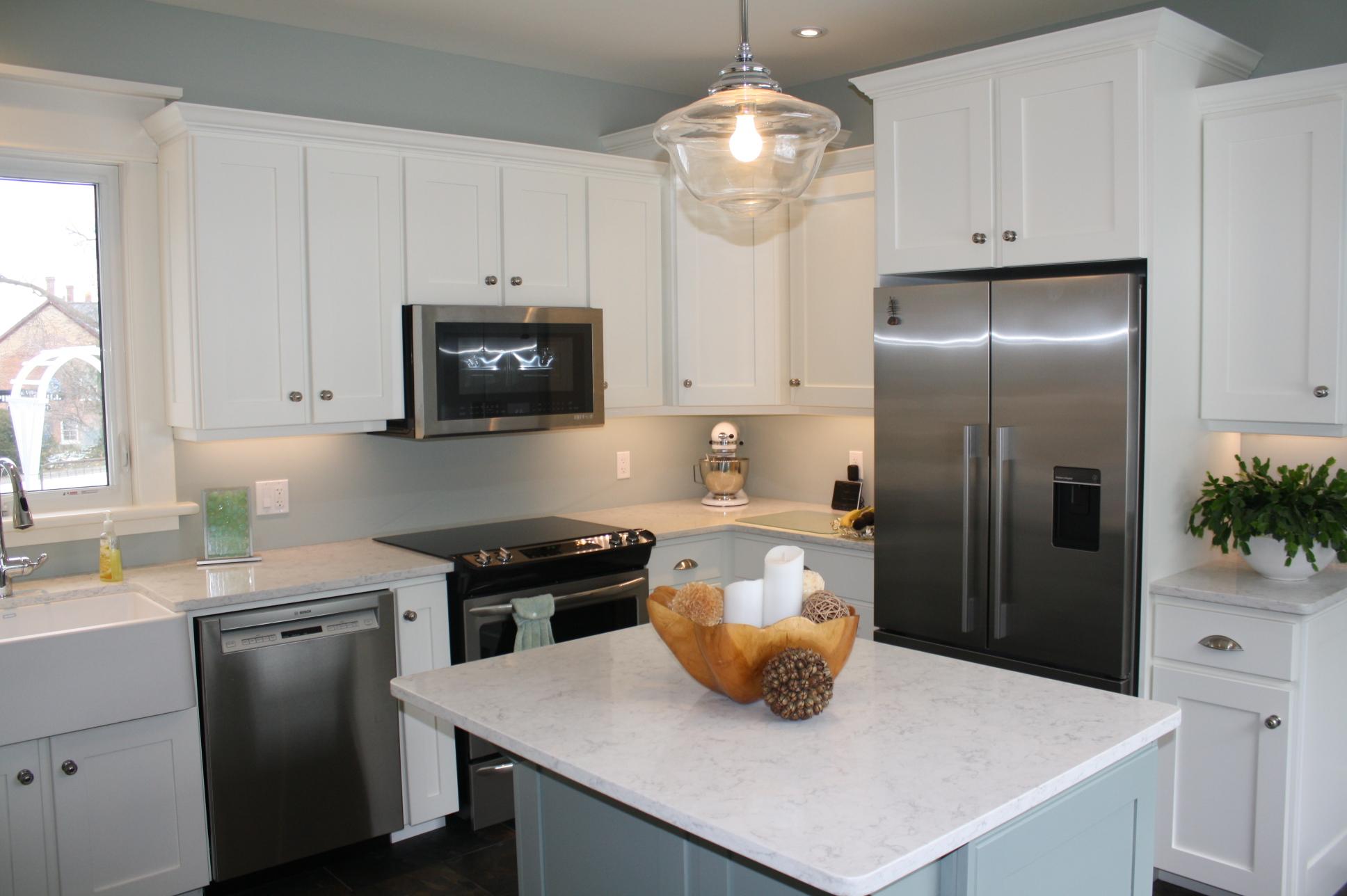 White custom kitchen