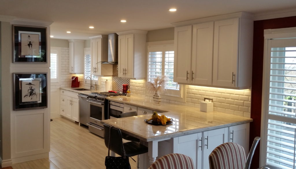 White painted kitchen