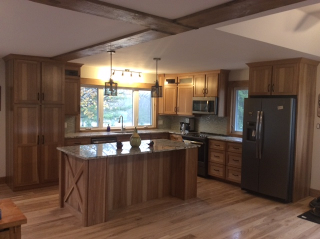 Hickory kitchen cupboards