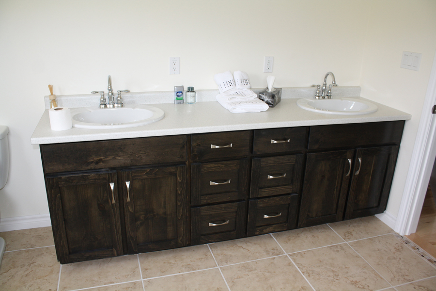 Pine bathroom vanity