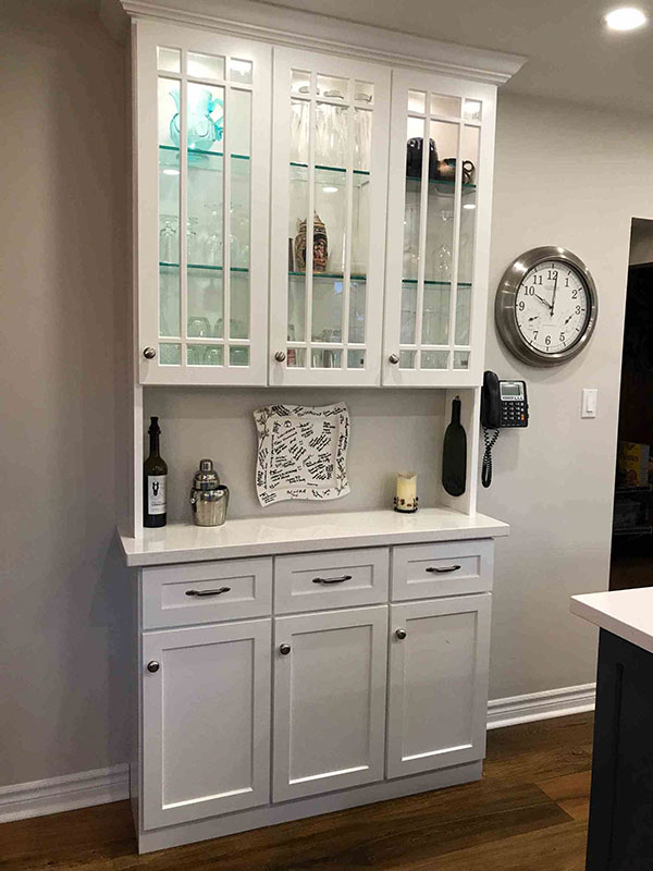 Painted/glazed custom dining hutch