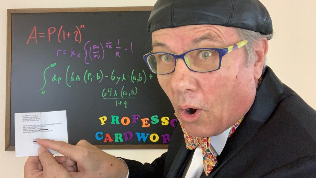 Professor Cardworthy Money Explainer - Overdrawn Billionaire