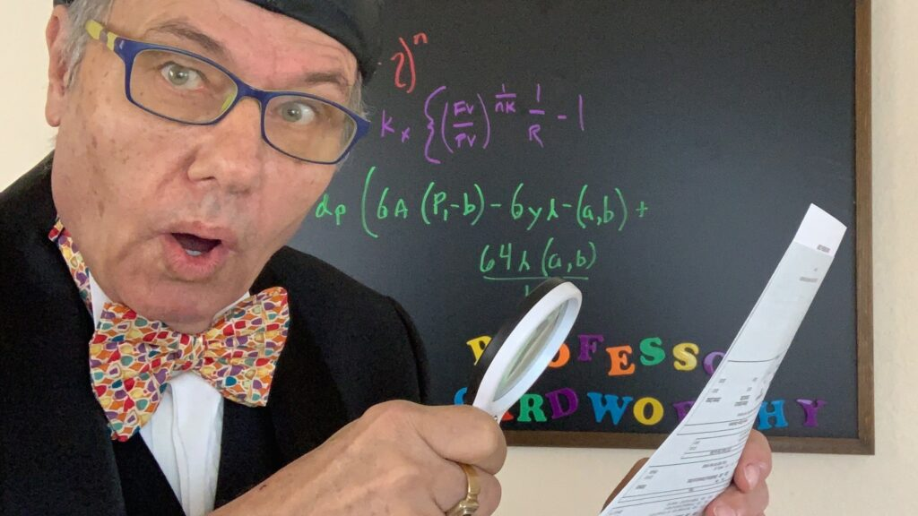 Professor Cardworthy Money Explainer - Budget Buster Late Fees