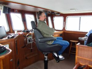 Dale at the helm