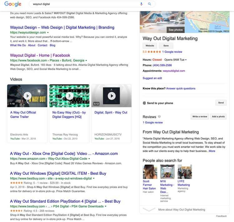 wayout digital Google-Search