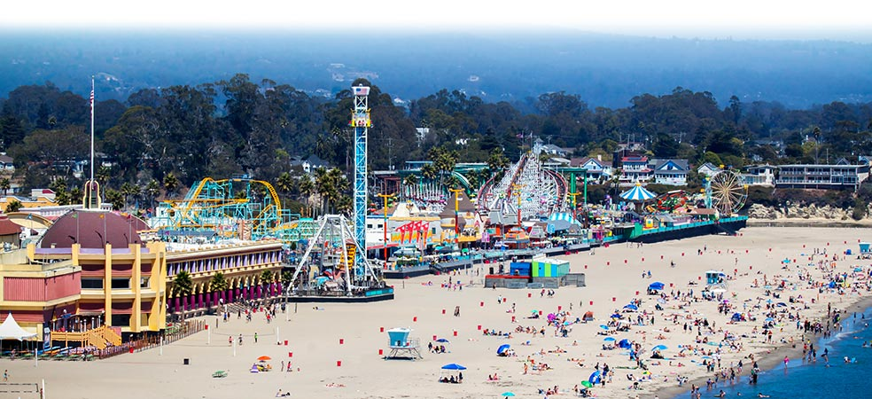 Santa Cruz, CA and Beach Boardwalk.  Jewel of West Coast Seaside Resort Towns Last of A Breed