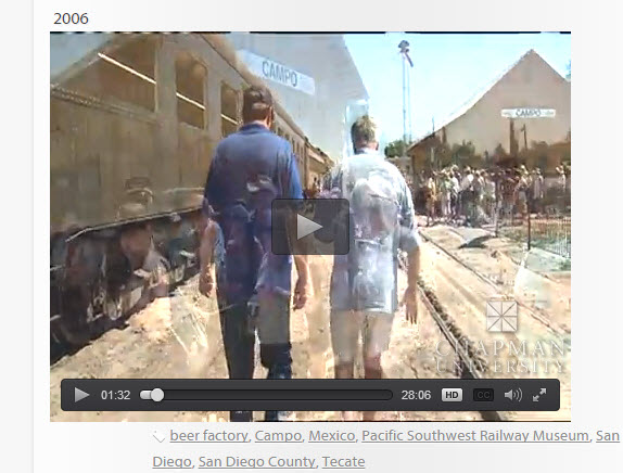 Join Huell Howser for Historic 'Miracle' Train (Museum) Ride Between Two Countries, U.S. and Mexico