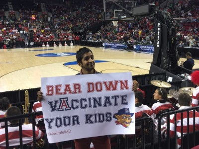 March Madness - Bear down vaccinate your kids