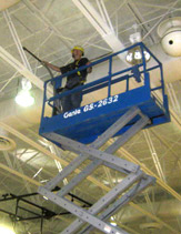 Hughes Environmental uses trained technicians for commercial duct cleaning, rafter and ceiling cleaning, and combustible dust remediation