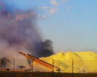 Sulfur Dust Fire