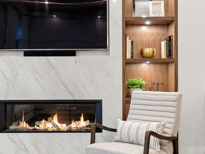 Traditional meets modern in this timeless, transitional space