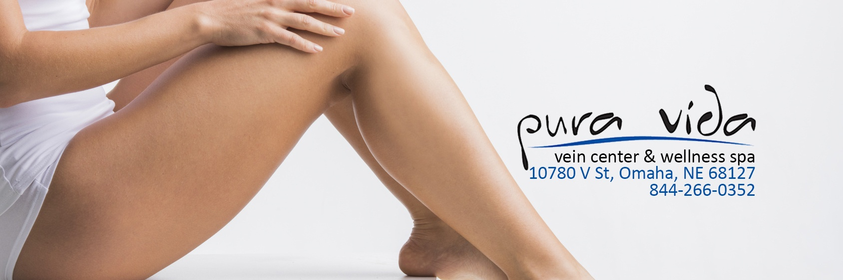 Woman with smooth legs after varicose spider veins removal