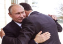 Brothers in arms: Assad and Putin embrace as Syrian dictator thanks Russia for 'saving' his country ahead of UN peace talks