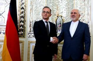German Foreign Minister Heiko Maas meets with his Iranian counterpart Javad Zarif