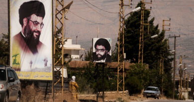 Hezbollah posters around the streets of Baalbek