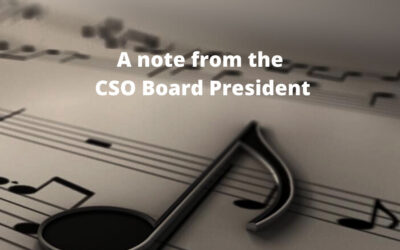 Dear Patrons  From CSO