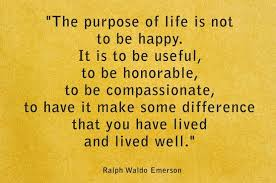 prupose of life emerson