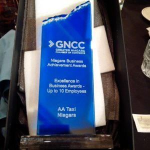 Excellence in Business: Up to 10 Employees AA Taxi Niagara